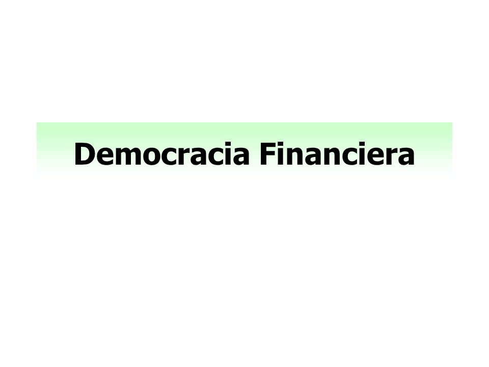 Democracia Financiera