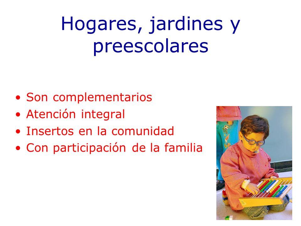 Hogares, jardines y preescolares