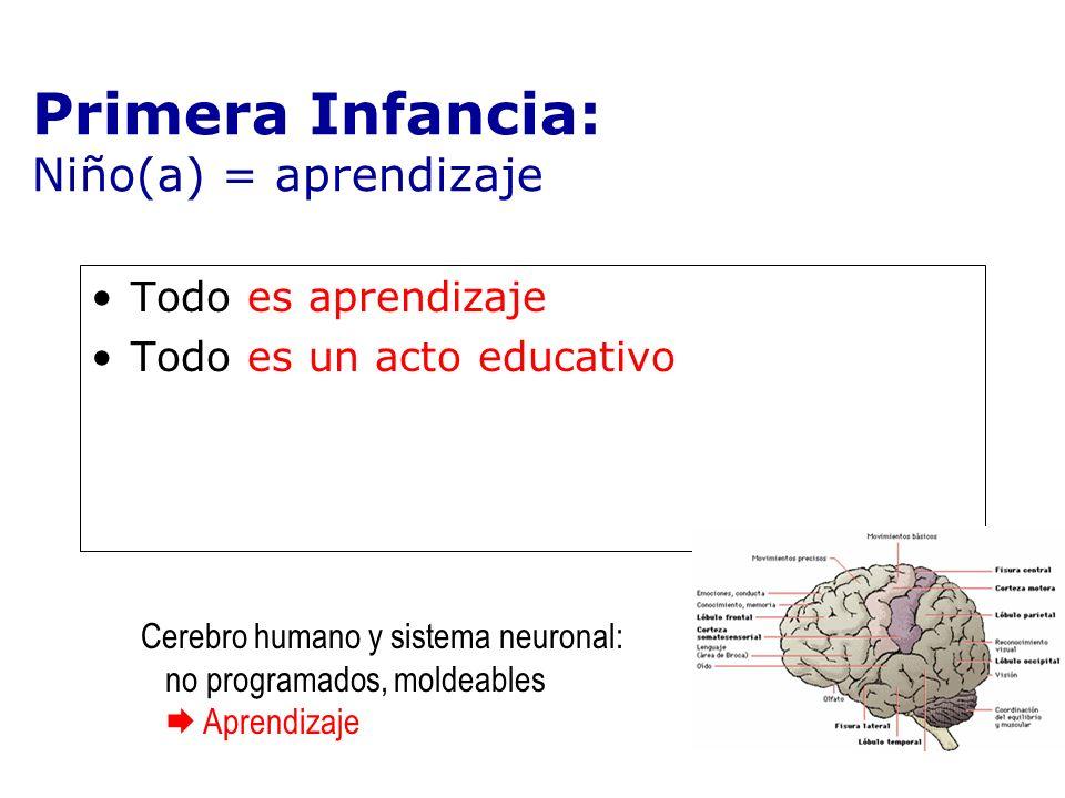 Primera Infancia: Niño(a) = aprendizaje