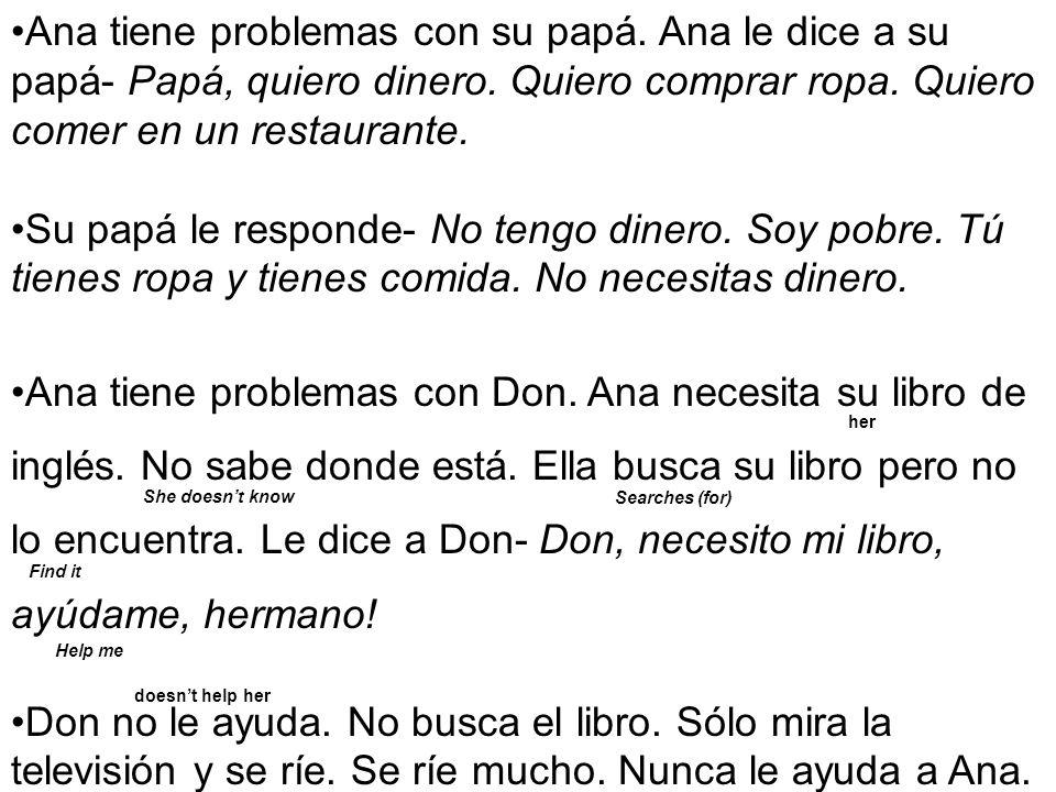 Ana tiene problemas con su papá