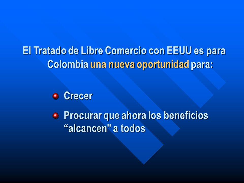 El Tratado de Libre Comercio con EEUU es para Colombia una nueva oportunidad para: