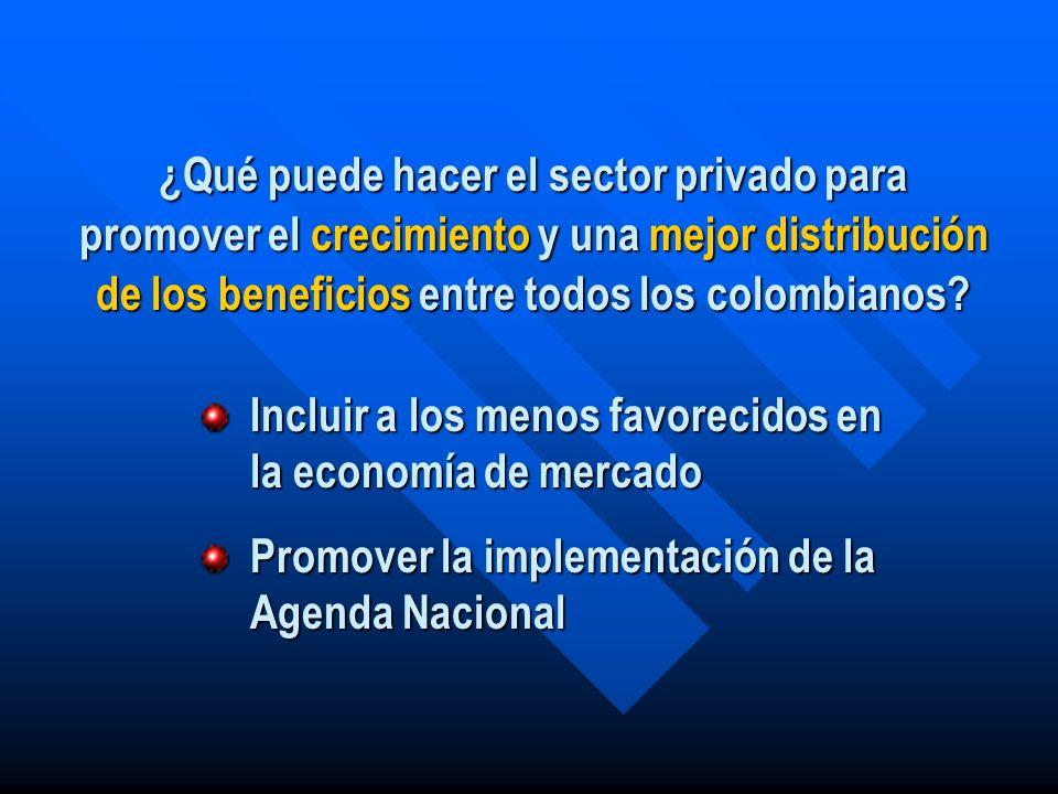 ¿Qué puede hacer el sector privado para promover el crecimiento y una mejor distribución de los beneficios entre todos los colombianos