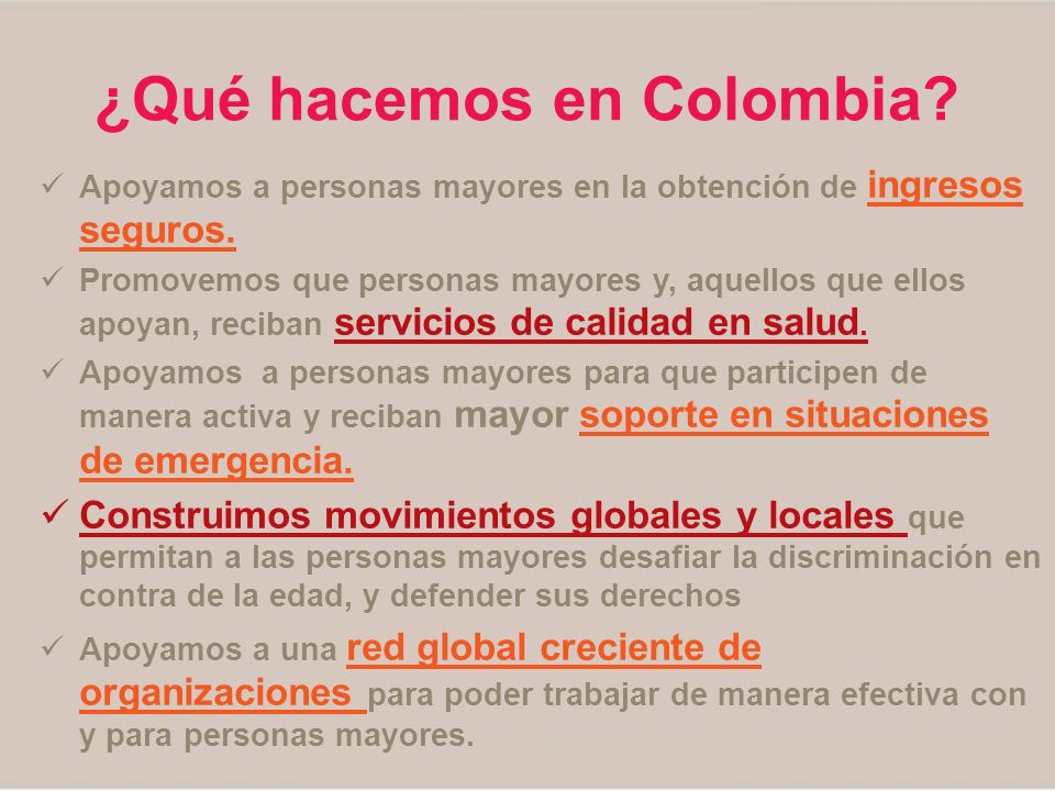 ¿Qué hacemos en Colombia