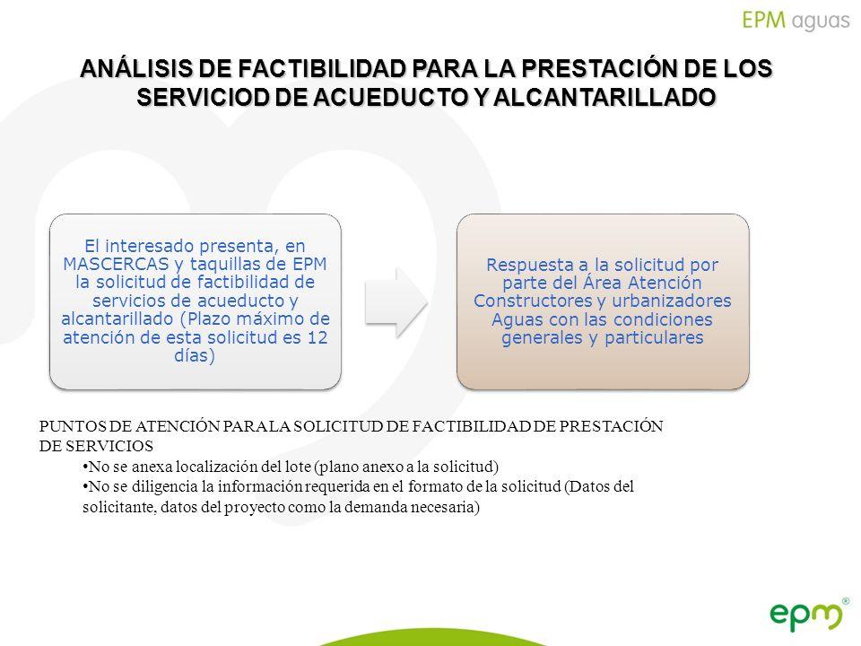 ANÁLISIS DE FACTIBILIDAD PARA LA PRESTACIÓN DE LOS SERVICIOD DE ACUEDUCTO Y ALCANTARILLADO