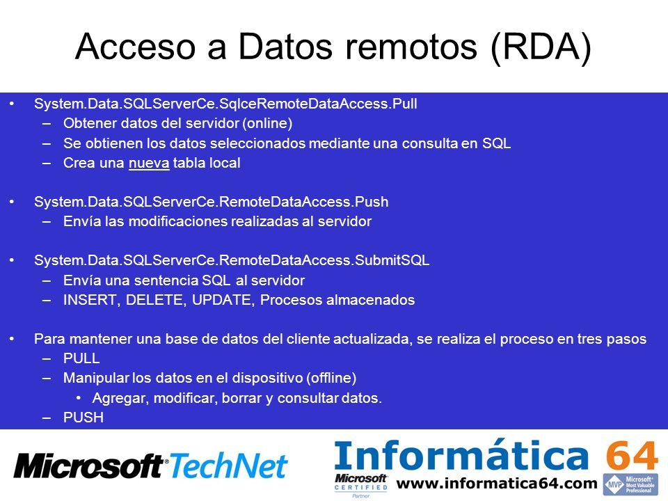 Acceso a Datos remotos (RDA)