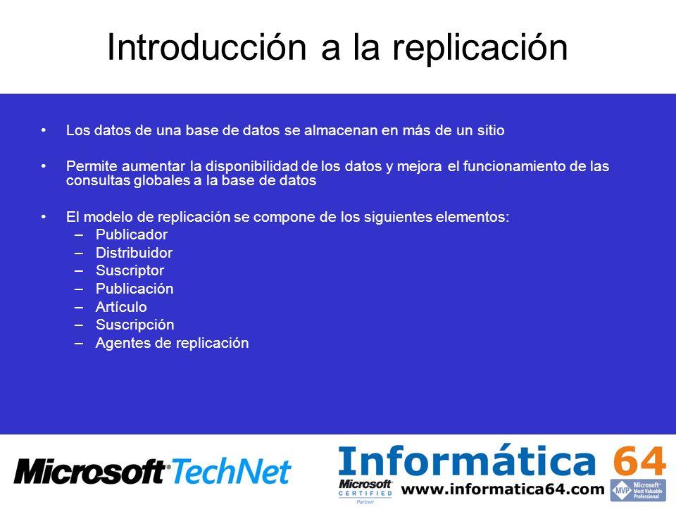 Introducción a la replicación