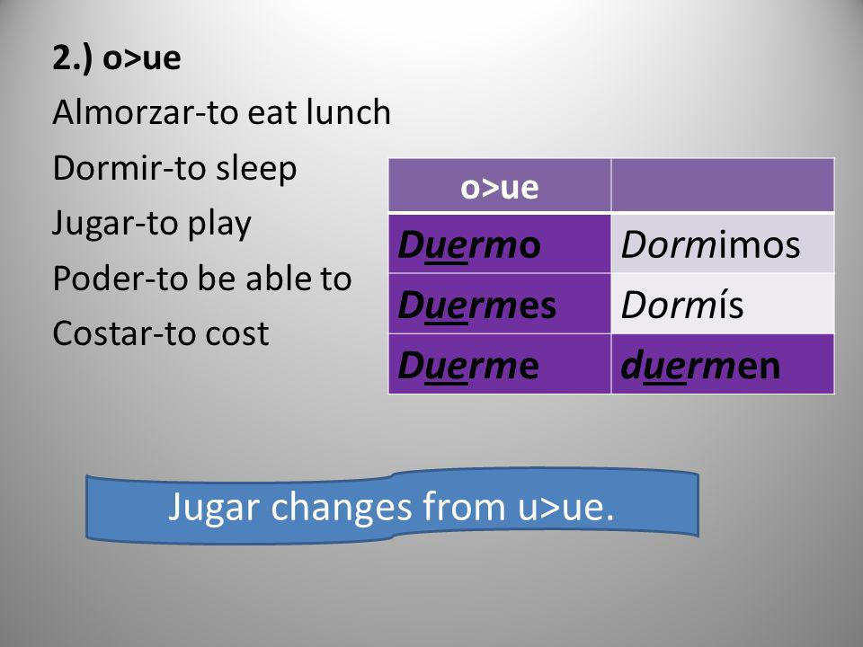 Jugar changes from u>ue.
