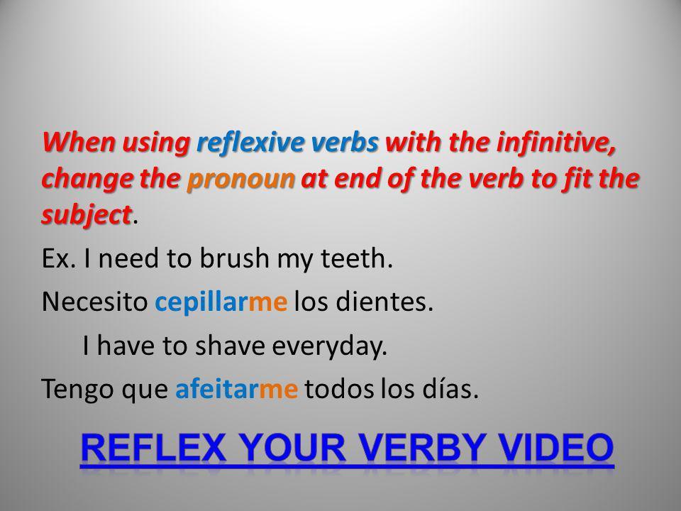 Reflex your verby video