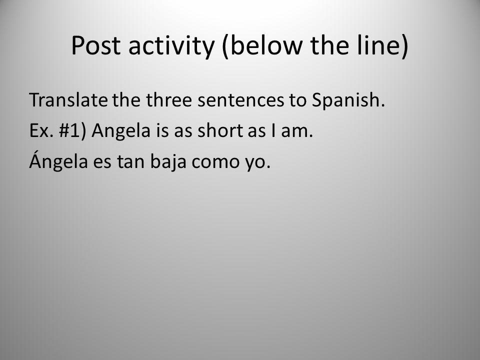 Post activity (below the line)