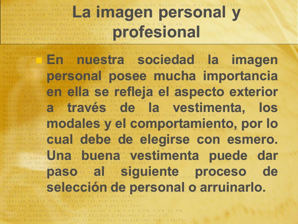 La imagen personal y profesional