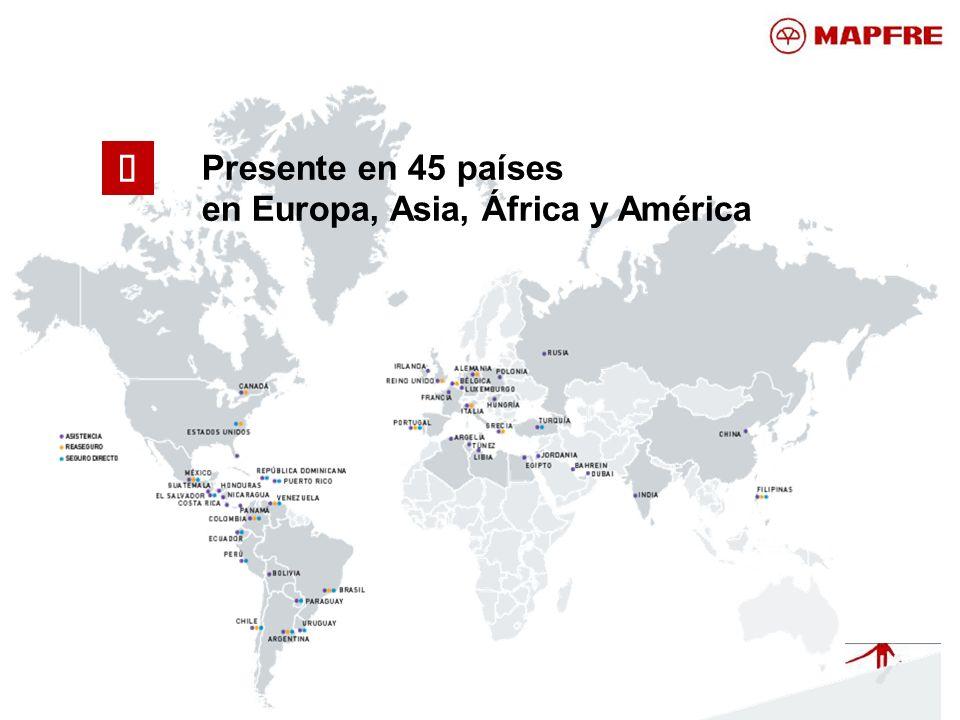 Presente en 45 países en Europa, Asia, África y América ü