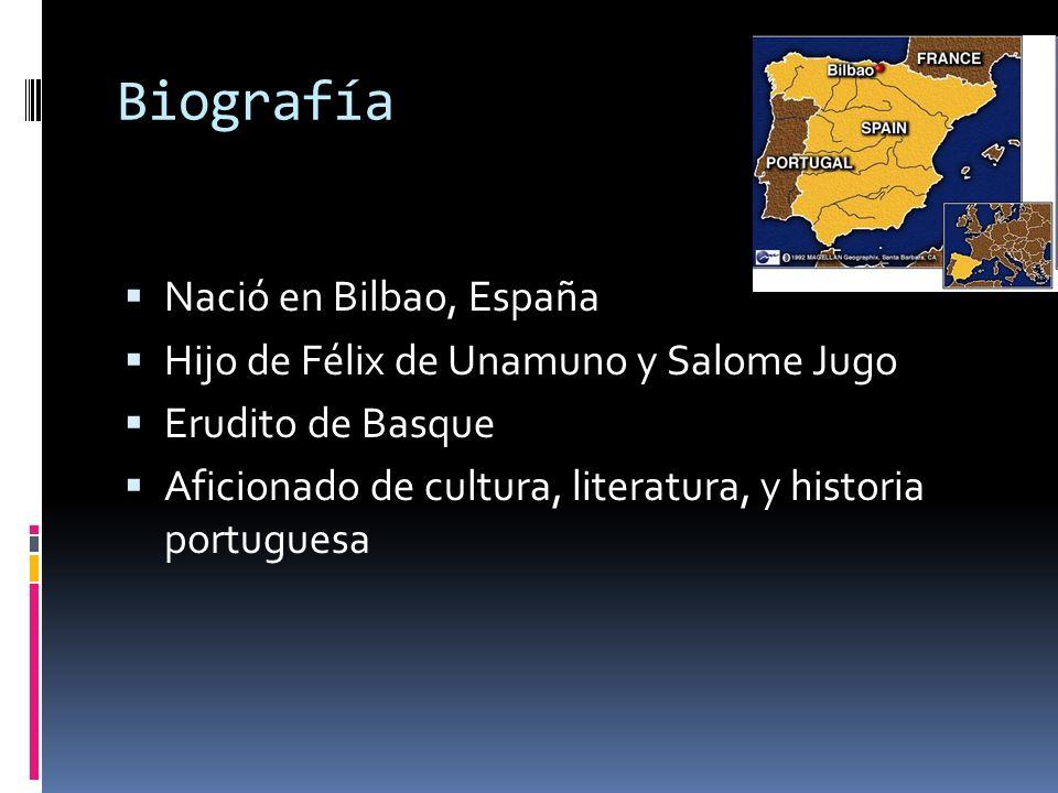 Biografía Nació en Bilbao, España