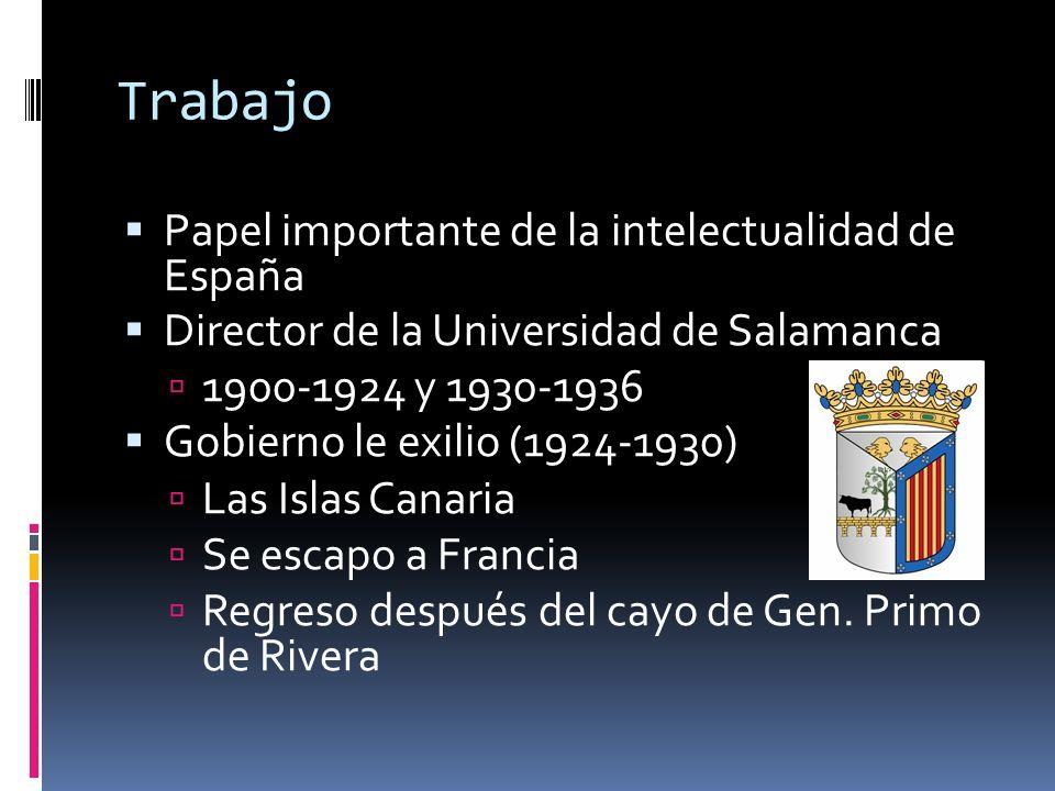Trabajo Papel importante de la intelectualidad de España