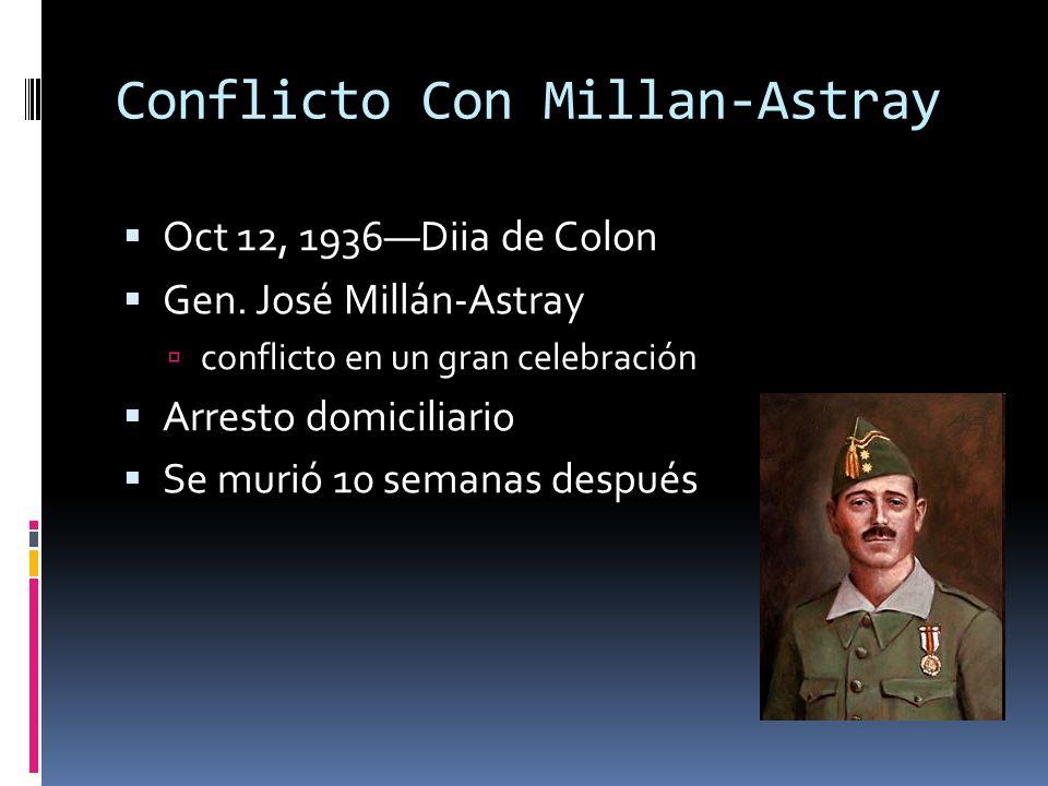 Conflicto Con Millan-Astray