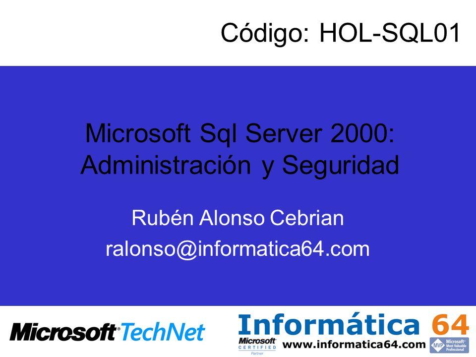 Rubén Alonso Cebrian ralonso@informatica64.com