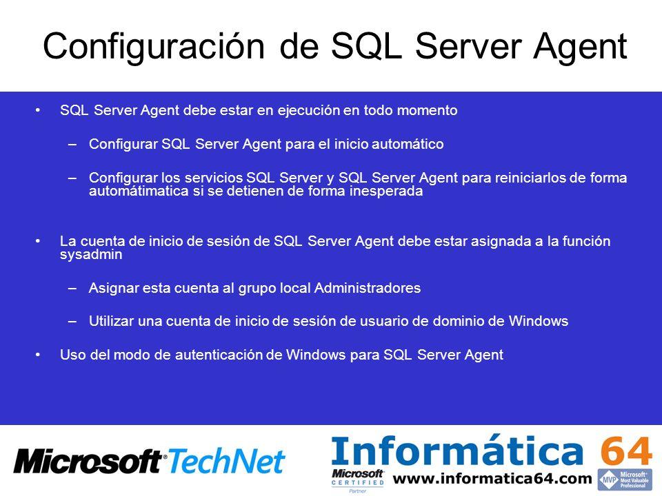 Configuración de SQL Server Agent