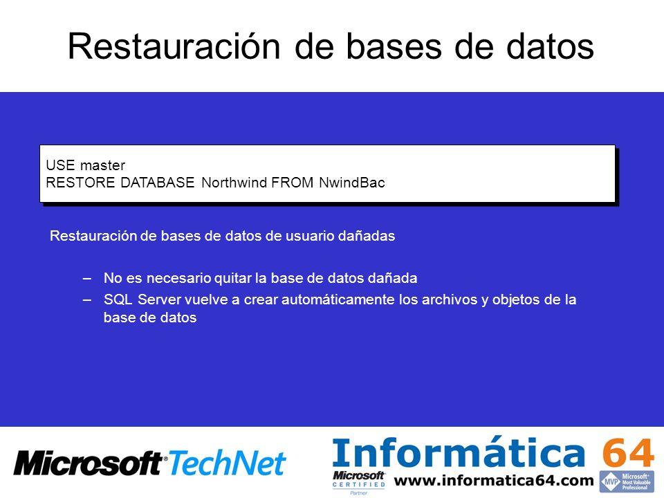 Restauración de bases de datos