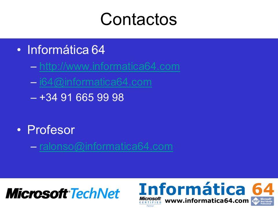Contactos Informática 64 Profesor http://www.informatica64.com
