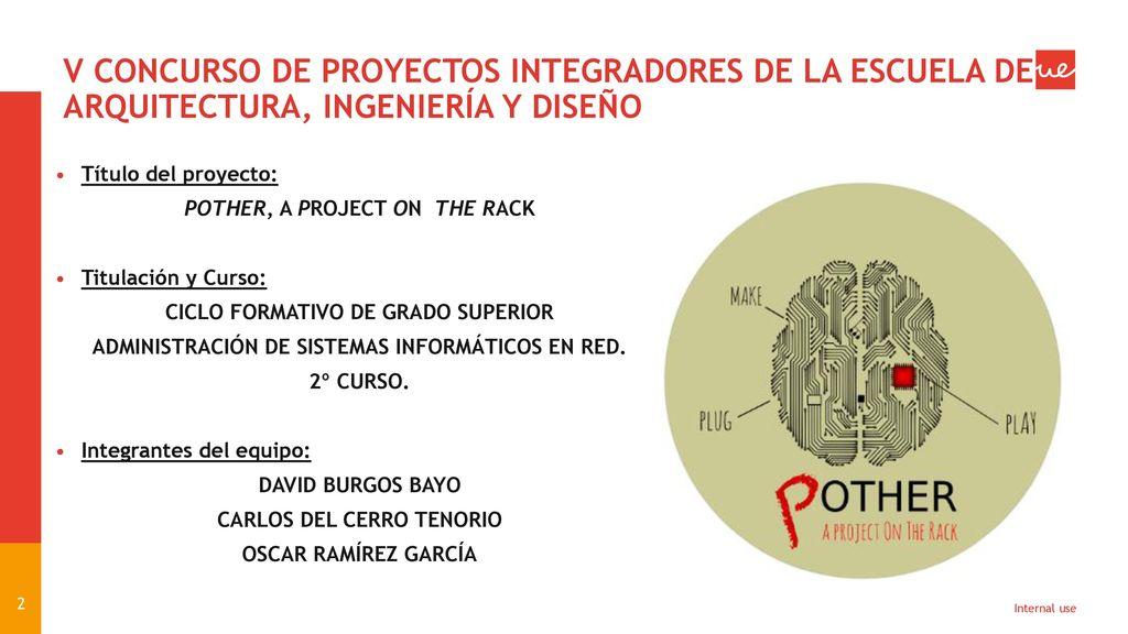 Proyecto integrador de alumnos del 2 curso del ciclo for Grado superior arquitectura