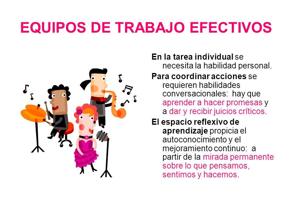 EQUIPOS DE TRABAJO EFECTIVOS