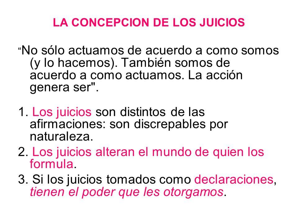 LA CONCEPCION DE LOS JUICIOS