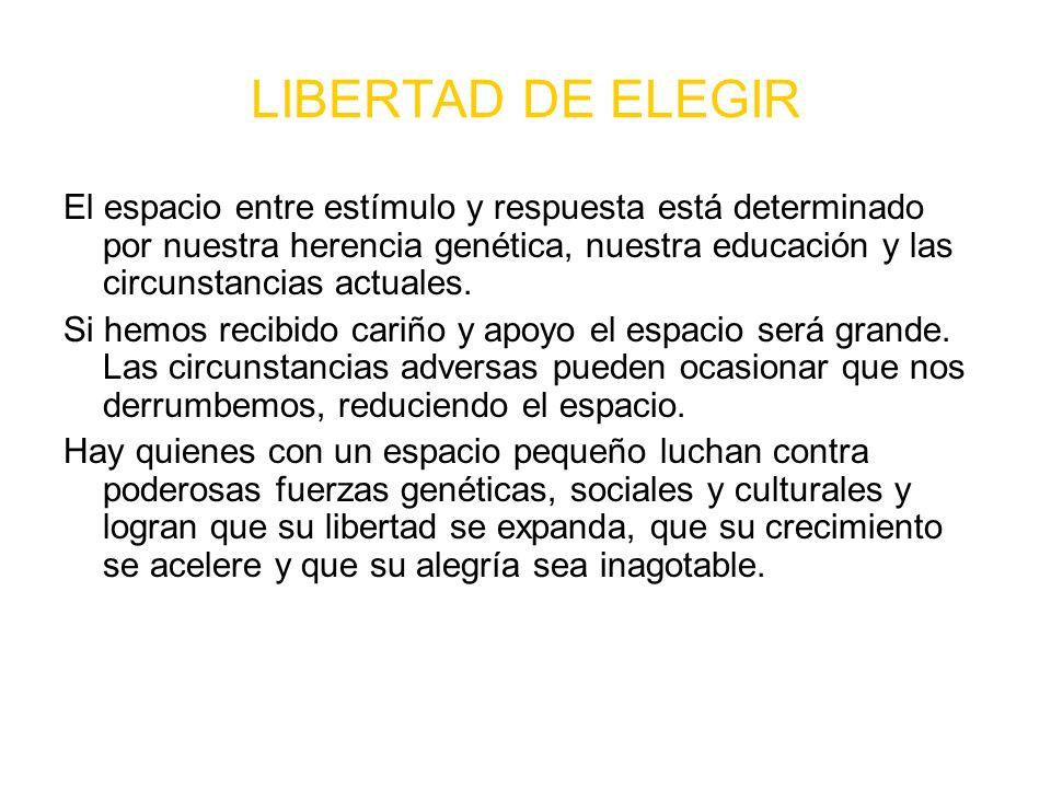 LIBERTAD DE ELEGIR