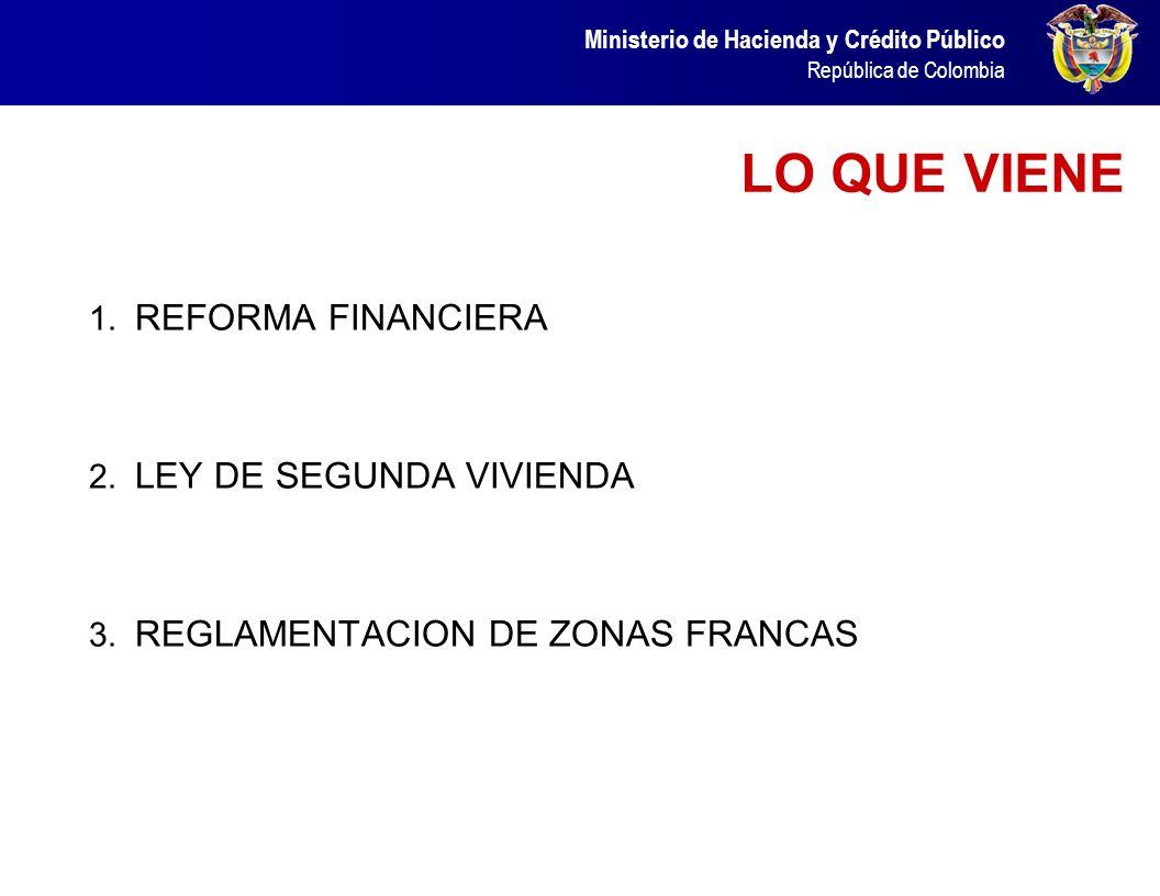 LO QUE VIENE REFORMA FINANCIERA LEY DE SEGUNDA VIVIENDA