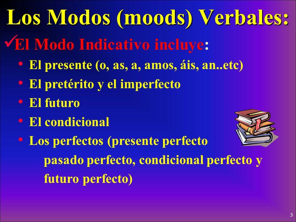Los Modos (moods) Verbales: