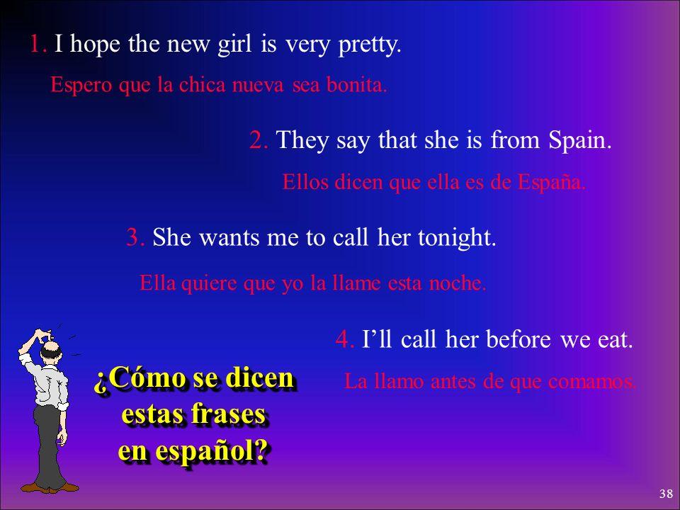 ¿Cómo se dicen estas frases en español