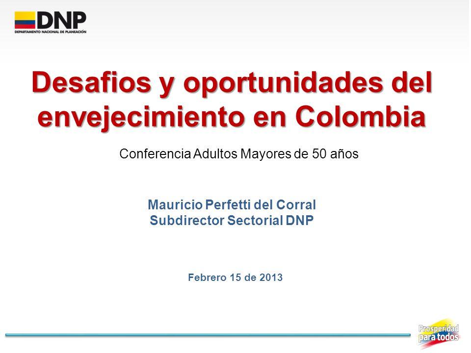Desafios y oportunidades del envejecimiento en Colombia