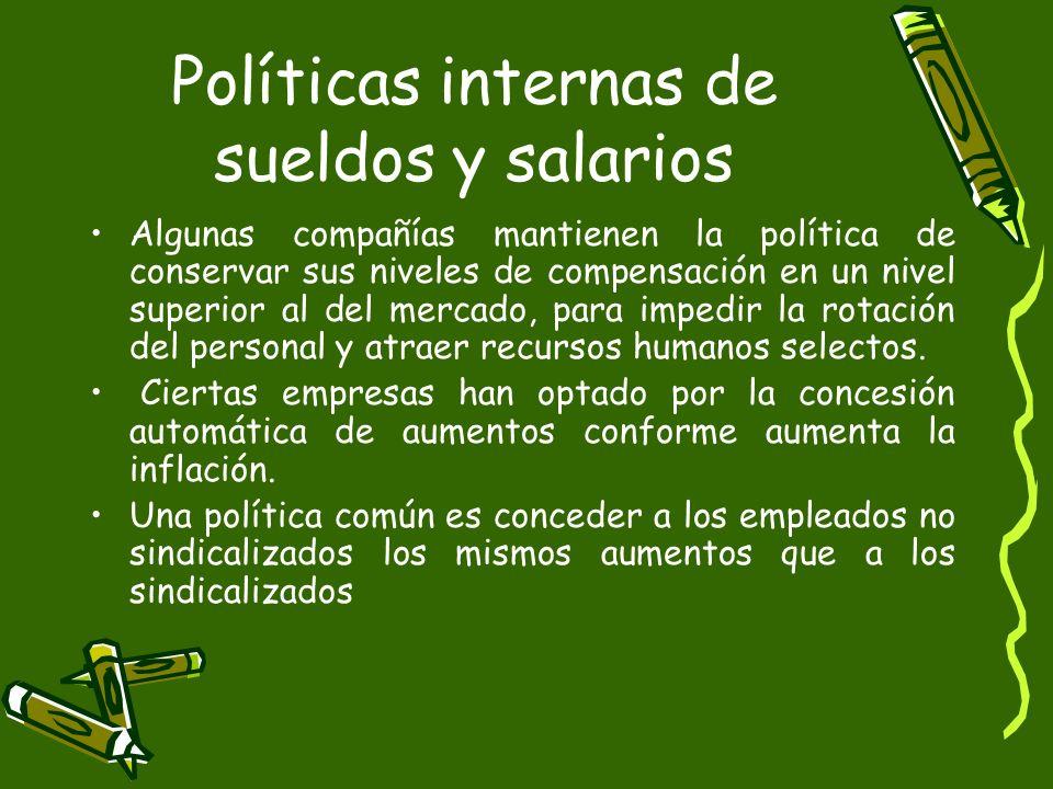 Políticas internas de sueldos y salarios