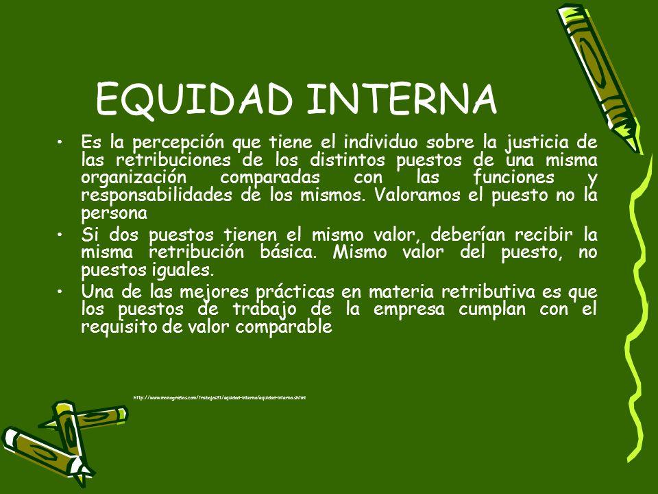 EQUIDAD INTERNA