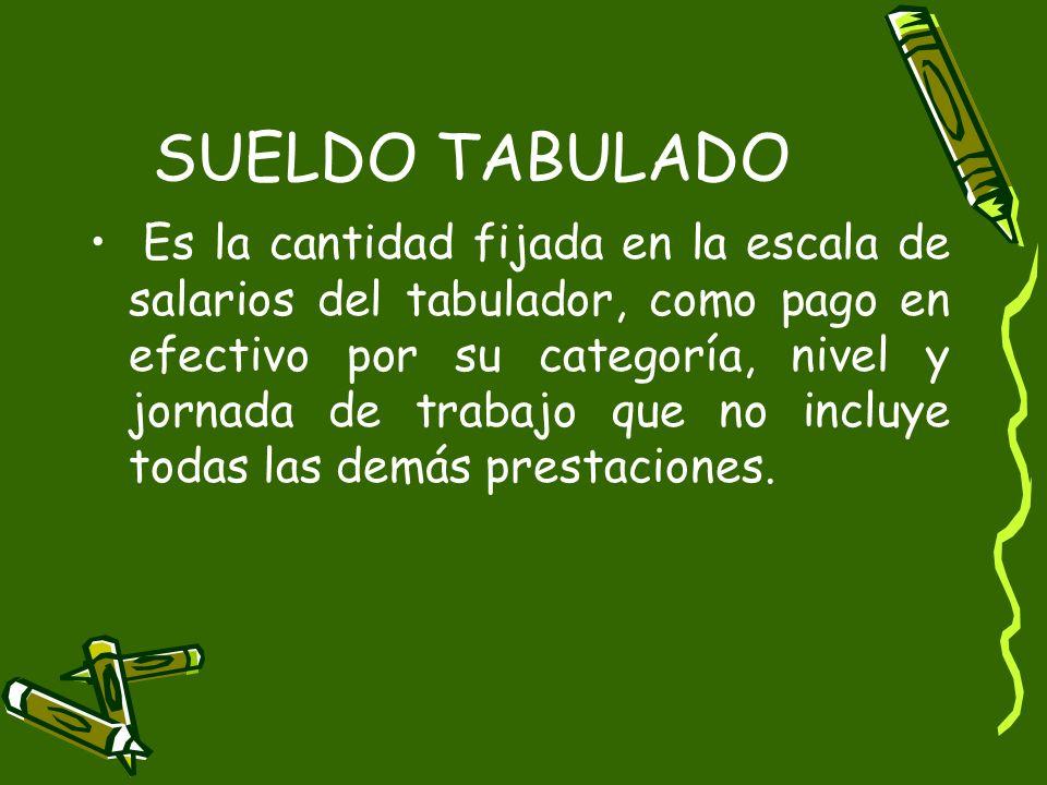SUELDO TABULADO
