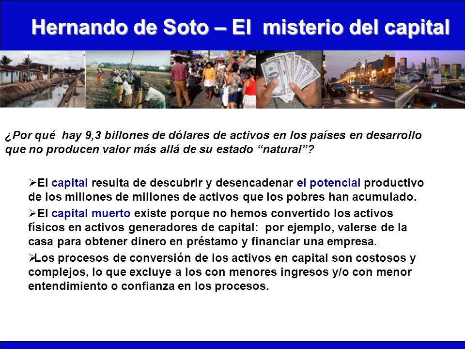 Hernando de Soto – El misterio del capital