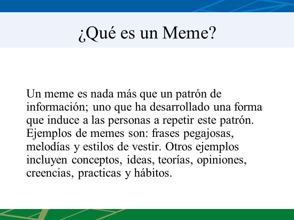 ¿Qué es un Meme