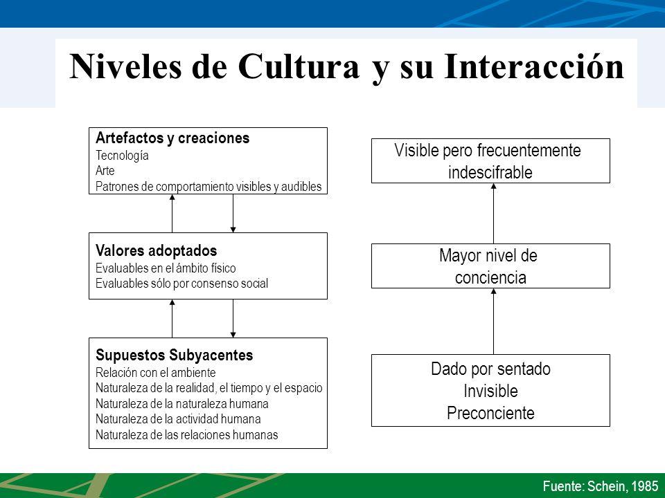 Niveles de Cultura y su Interacción
