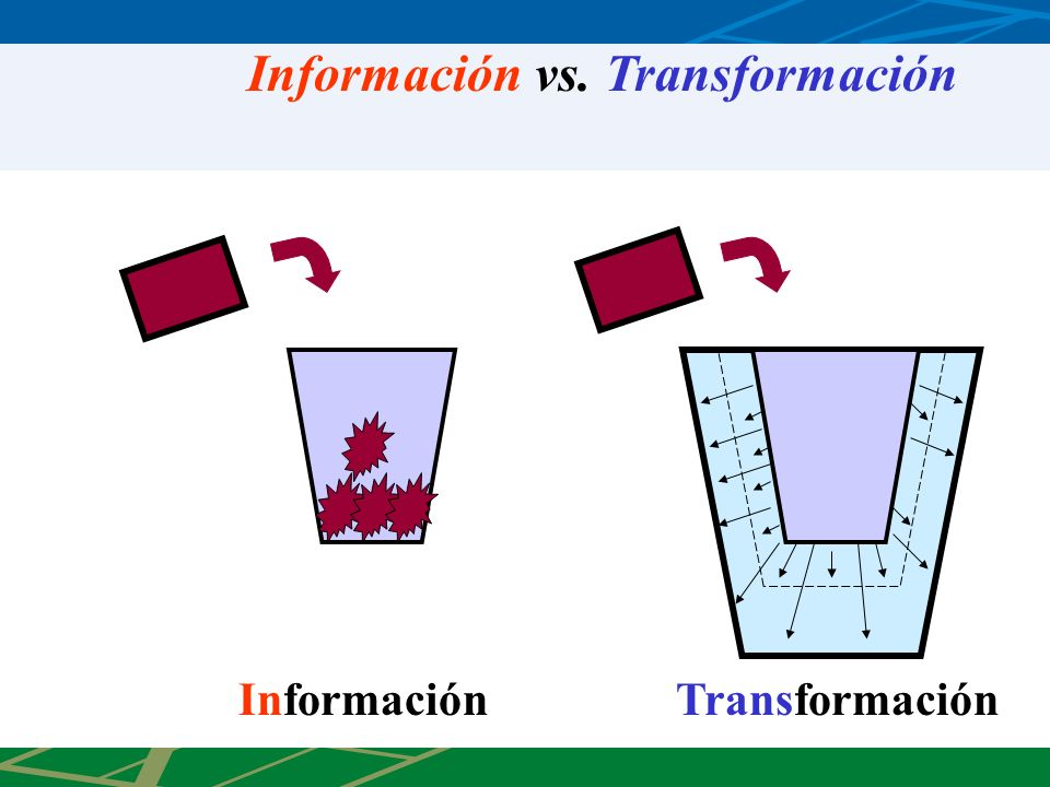 Información vs. Transformación