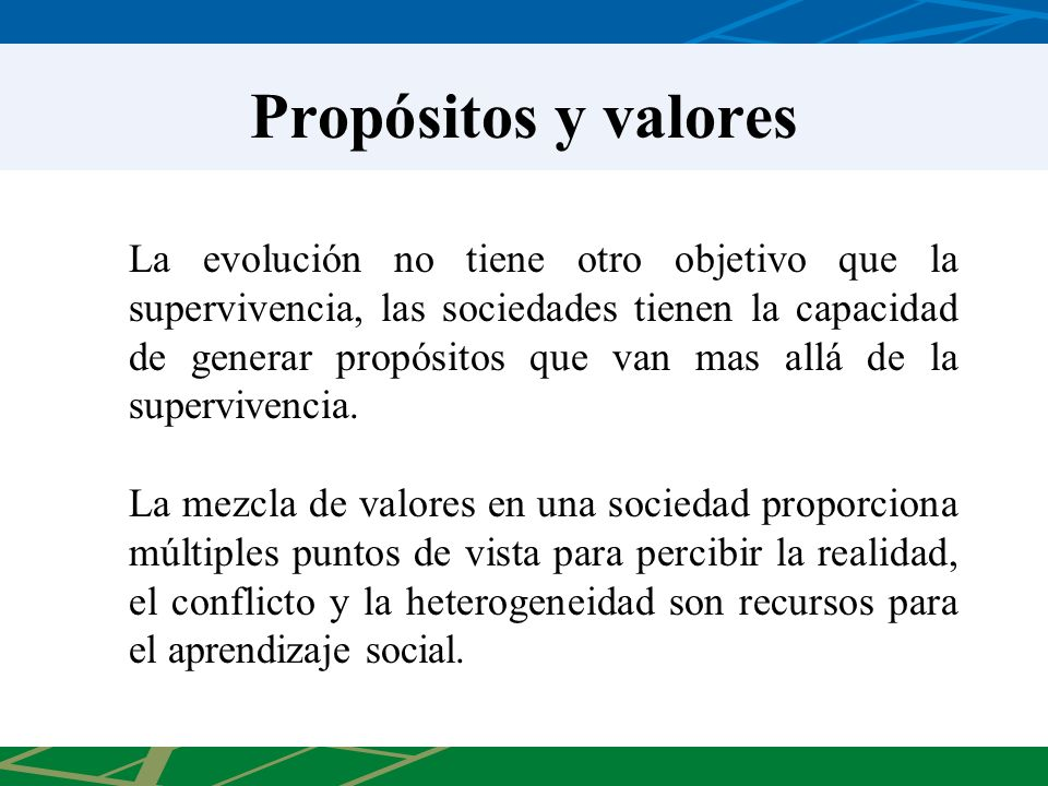 Propósitos y valores