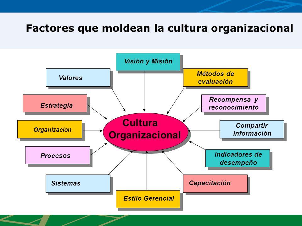 Factores que moldean la cultura organizacional