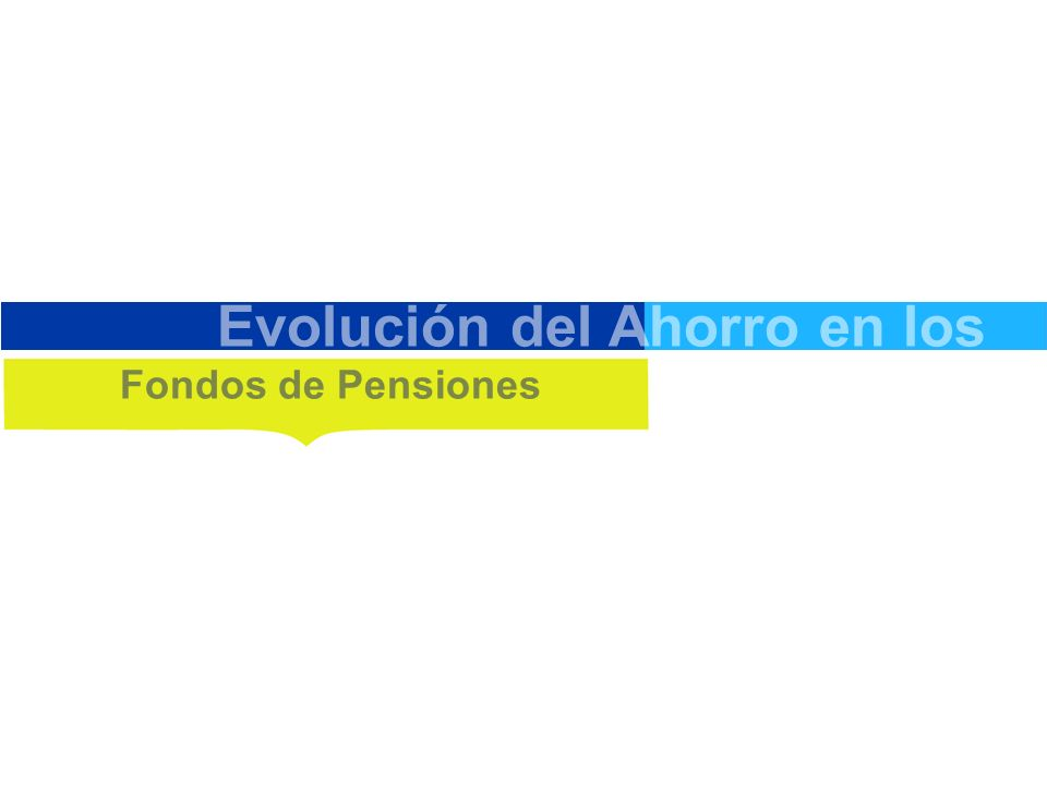 Evolución del Ahorro en los Fondos de Pensiones
