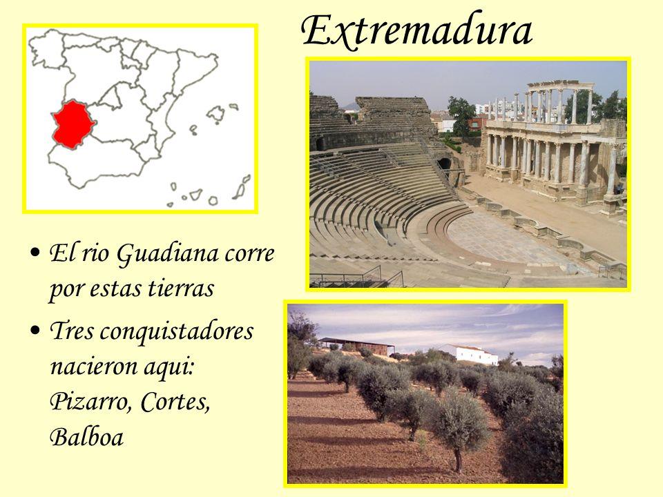 Extremadura El rio Guadiana corre por estas tierras