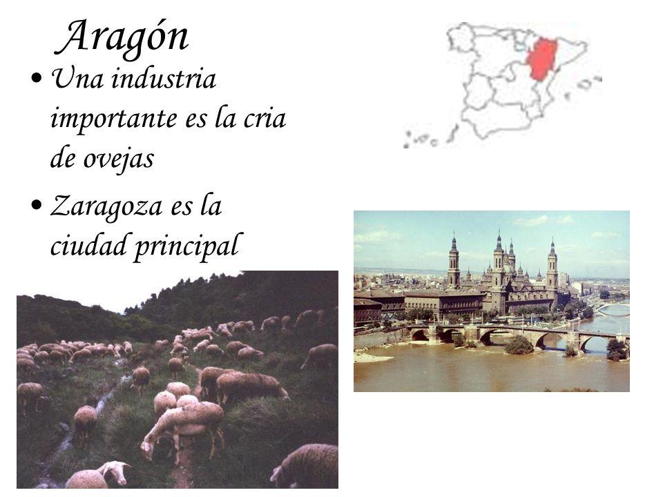 Aragón Una industria importante es la cria de ovejas