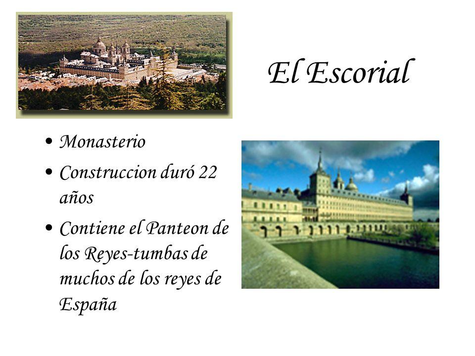 El Escorial Monasterio Construccion duró 22 años