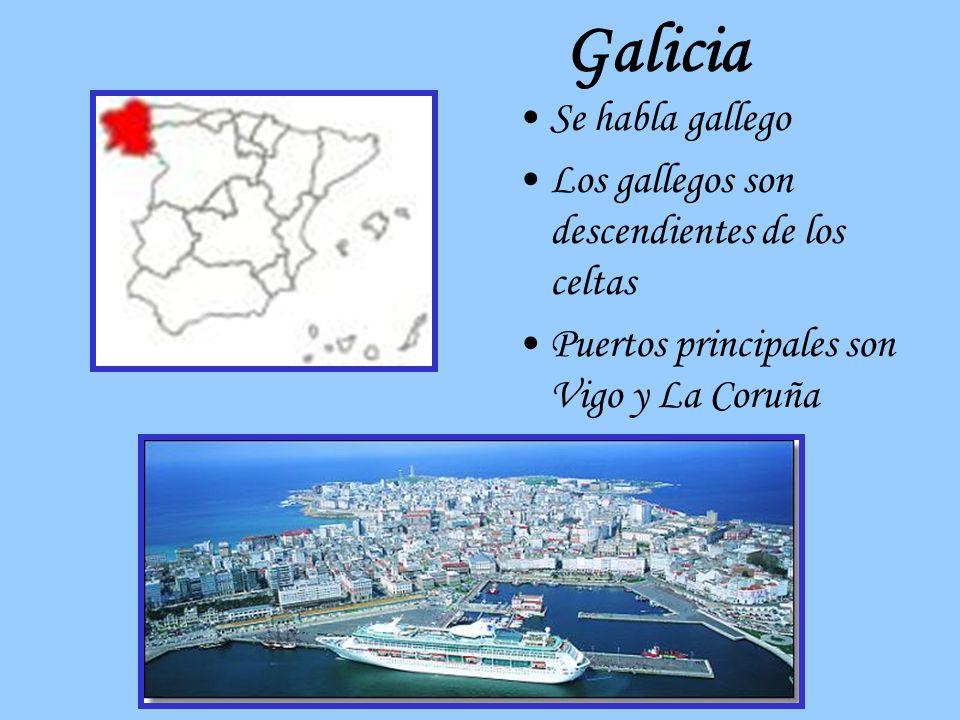 Galicia Se habla gallego Los gallegos son descendientes de los celtas