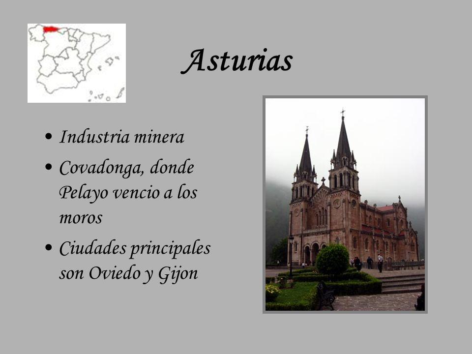 Asturias Industria minera Covadonga, donde Pelayo vencio a los moros