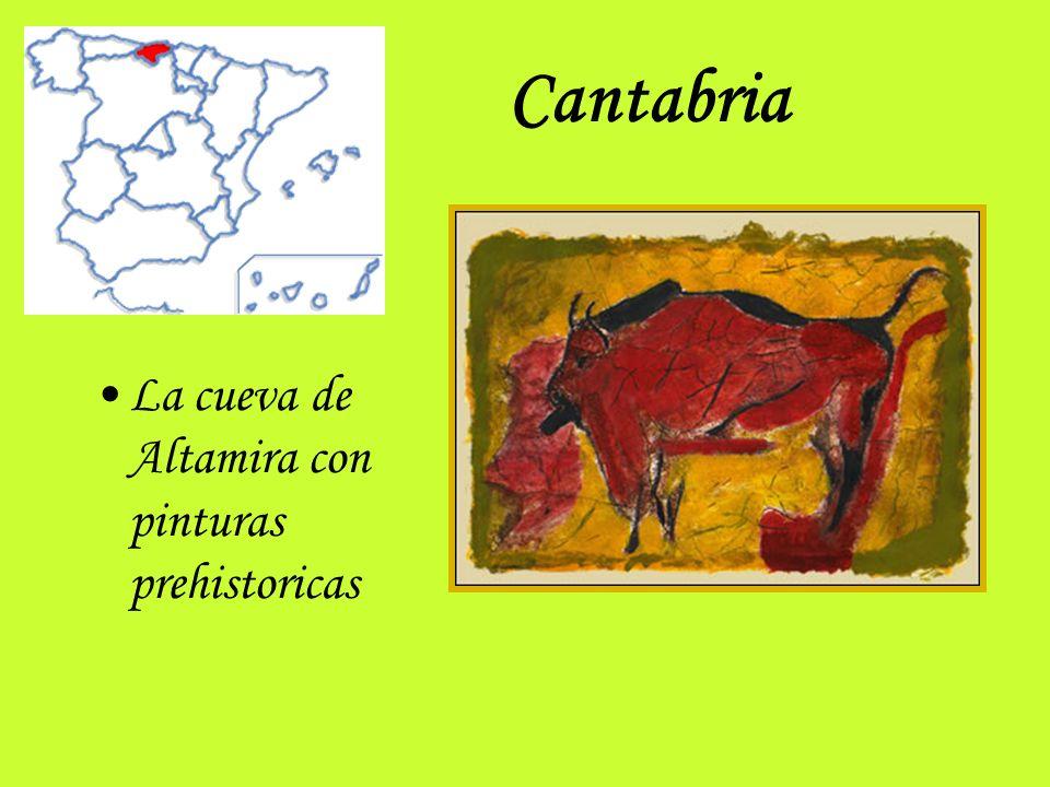 Cantabria La cueva de Altamira con pinturas prehistoricas