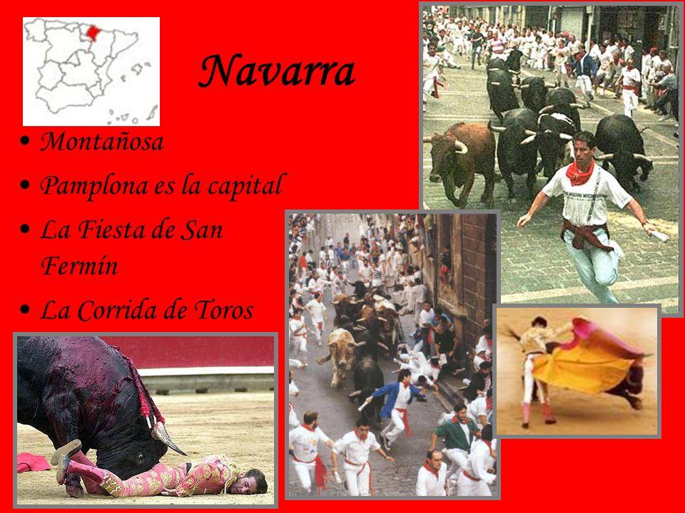 Navarra Montañosa Pamplona es la capital La Fiesta de San Fermín