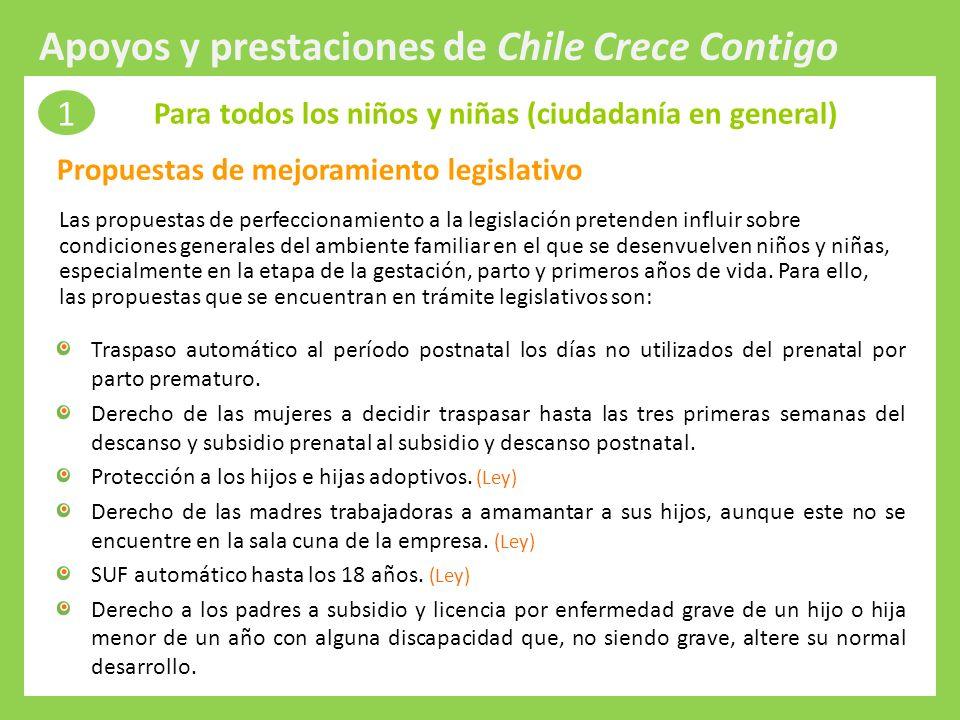 Apoyos y prestaciones de Chile Crece Contigo
