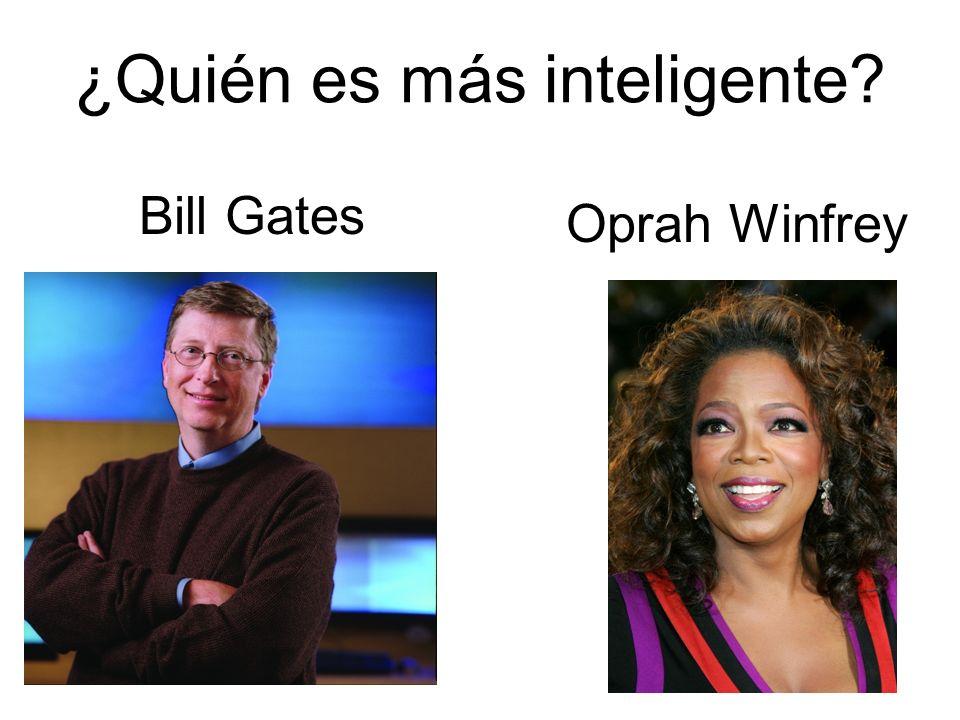¿Quién es más inteligente