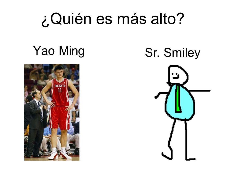 ¿Quién es más alto Yao Ming Sr. Smiley